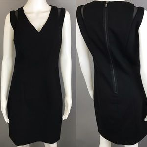 T Tahari Black Sheath Dress Size 6 Mesh Embossed